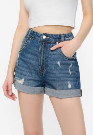 Джинсовые шорты женские Modis M201D00333 синие 42 RU