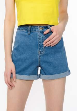 Джинсовые шорты женские Modis M201D00334 голубые 50 RU