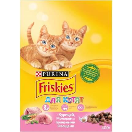 Сухой корм для котят Friskies, с курицей, молоком и полезными овощами, 0,4кг