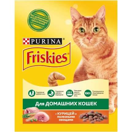 Сухой корм для кошек Friskies, для домашних, с курицей и полезными овощами, 0,3кг