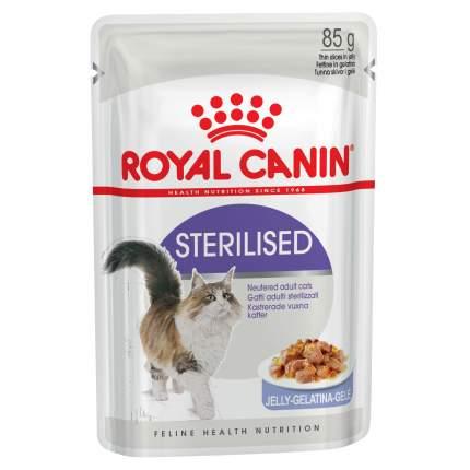 Влажный корм для кошек ROYAL CANIN Sterilised, для стерилизованных, мясо, 12шт по 85г