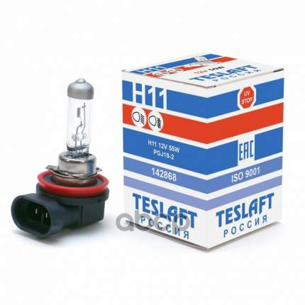 Лампа 12v H11 55w Pgj19-2 Teslaft 1 Шт. Картон 142868 Teslaft 142868