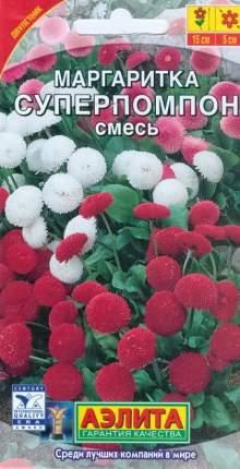 Семена Аэлита Маргаритка Суперпомпон, Смесь окрасок, 0,05 г