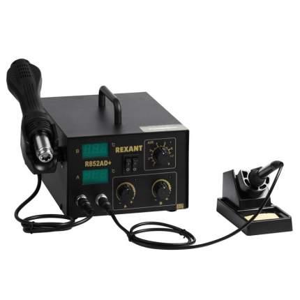 Паяльная станция REXANT, 2 в 1: паяльник+термофен, с цифровым дисплеем, 100-480 °С