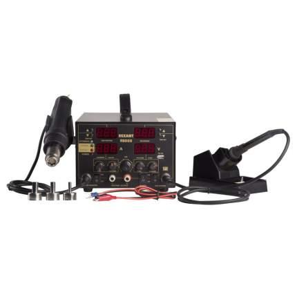 Паяльная станция REXANT, 3 в 1: паяльник+термофен+источник питания, 100-480 °С
