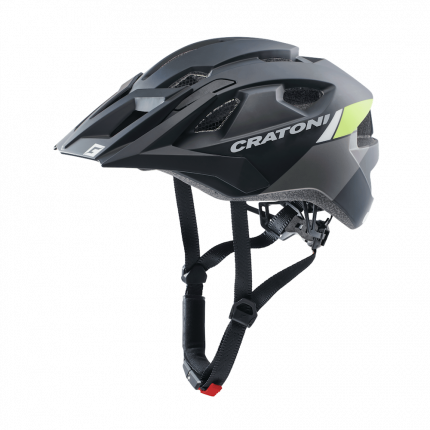 Велосипедный шлем Cratoni Allride, black/lime matt, One Size