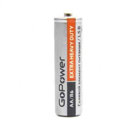 Батарейка AA солевая GoPower R6-4SH Heavy Duty в упаковке 4шт. 00-00015592