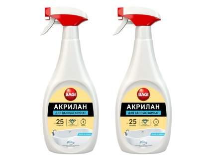 Чистящее средство для ванных комнат Bagi акрилан 400 мл, набор 2 шт