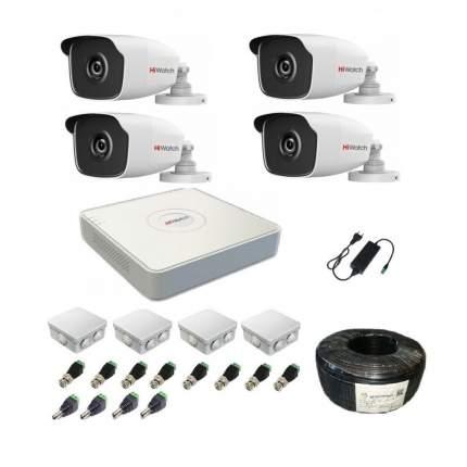 Комплект видеонаблюдения hiwatch на 4 уличные камеры HD