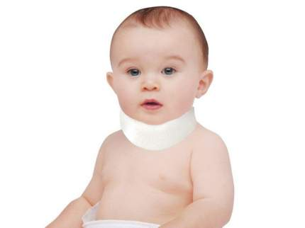 Шина-воротник шанца для недоношенных и новорожденных детей ORTO ШВН, р.1 (28x2,7), бежевый