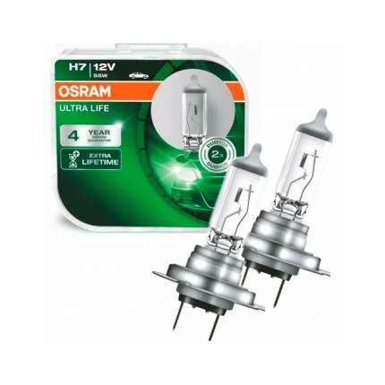 Лампа H7 12v- 55w (Px26d) Ultra Life (Коробка 2шт.) Osram 64210ULT-HCB