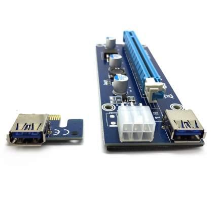 Кабель Espada EpciEkit USB Riser card PCI-E x1 Male to PCI-E x16 Female