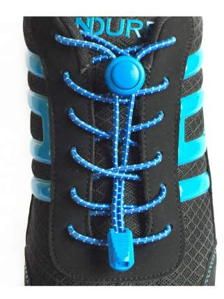 Шнурки для обуви Lumo LM-LL-05 эластичные с фиксатором синие