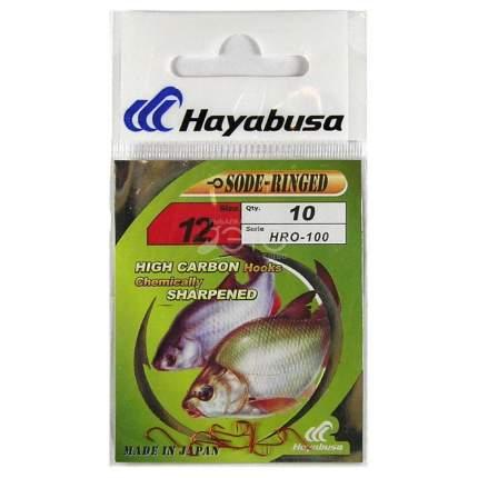 Рыболовные крючки Hayabusa Sode-Ringed №12, 10 шт.