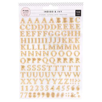 Паффи-стикеры алфавит Pink Paislee «Indigo&Ivy» - 143 шт Pink Paislee