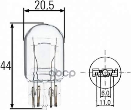 Лампа накаливания HELLA Standard W21/5w 12v 21/5w W3x16q, 1 шт. 8GD008893-002