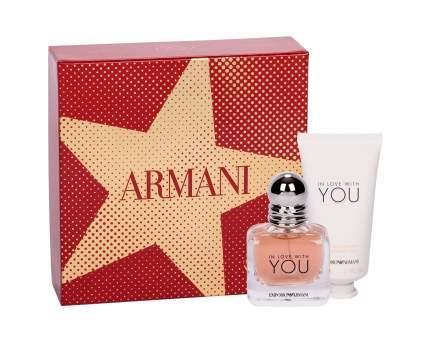 Парфюмерный набор GIORGIO ARMANI  IN LOVE WITH YOU 30мл+Крем для рук 50мл