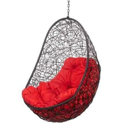Подвесное кресло Bigarden Easy черное без стойки красная подушка