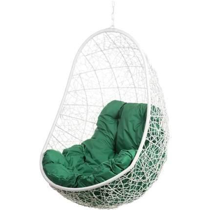 Подвесное кресло Bigarden Easy белое без стойки зеленая подушка
