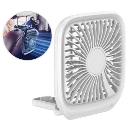 Автомобильный вентилятор Baseus Foldable Vehicle-mounted Backseat Fan White