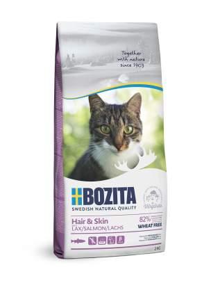 Сухой корм для кошек BOZITA Hair & Skin Wheat free, без пщеницы, лосось, 10кг