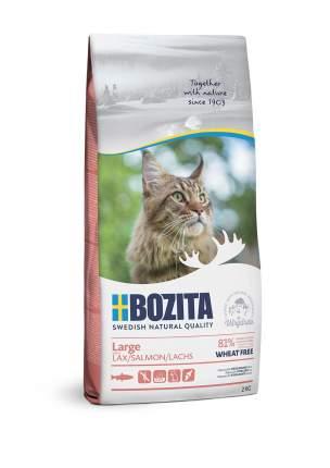 Сухой корм для кошек BOZITA Large Wheat free, для крупных пород, без пщеницы, лосось, 10кг