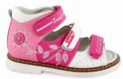 Ортопедические сандалии Sursil-Ortho 55-177_M для девочек розовый, белый