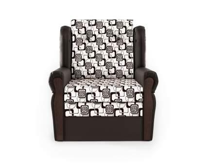 Кресло-раскладушка Классика М шоколад и ромб