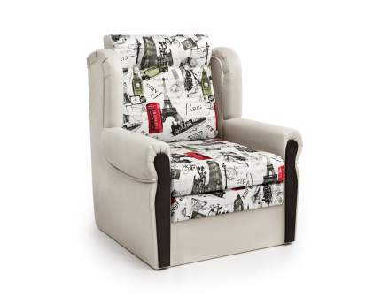 Кресло-раскладушка Классика М экокожа беж и велюр