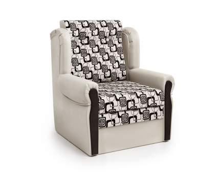 Кресло-раскладушка Классика М экокожа беж и ромб