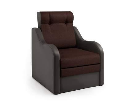 Кресло-раскладушка Классика В шоколад и рогожка