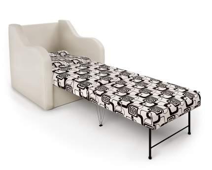 Кресло-раскладушка Классика В экокожа беж и ромб