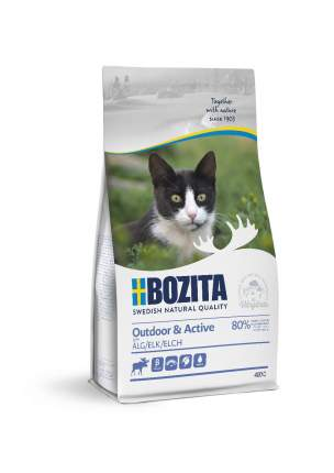 Сухой корм для кошек BOZITA Outdoor & Active, для активных, мясо лося, 10кг