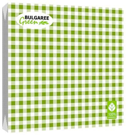 Салфетка Bulgaree green клетка 3-х слойная бумажная 33x33 20 шт