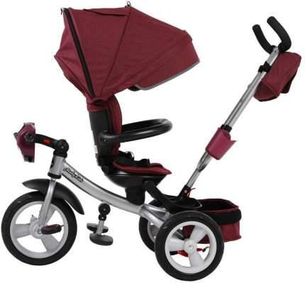 Велосипед трехколесный Moby Kids New 360° AIR Car бордовый