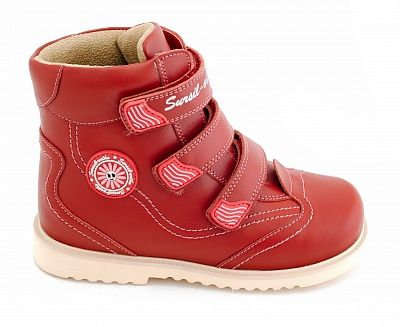 Ортопедические ботинки Sursil-Ortho 23-214_M для девочек красный