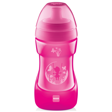 Поильник MAM Sports Cup со спортивным затвором и клапаном, розовый, 330 мл, 12+ мес.