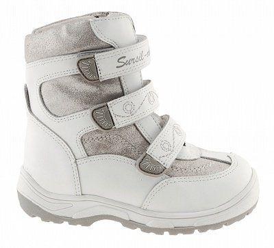 Ортопедические ботинки Sursil-Ortho А43-043 для девочек белый