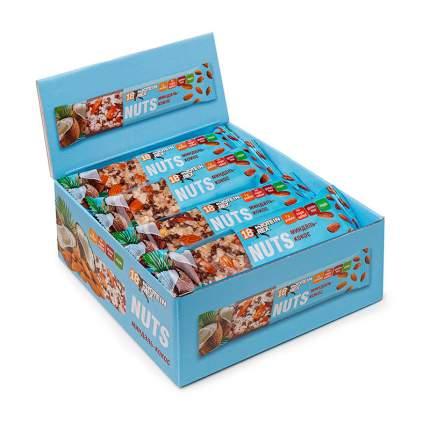 Ореховый протеиновый батончик PROTEIN REX Nuts 40 г (коробка 12шт) (Миндаль с кокосом)