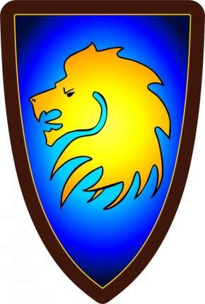 Треугольный щит детский Голова льва из дерева