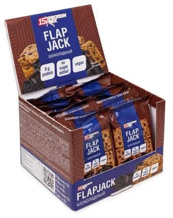 Печенье протеиновое овсяное PROTEIN REX Flapjack (коробка, 12штук по 40 гр) (Шоколад)