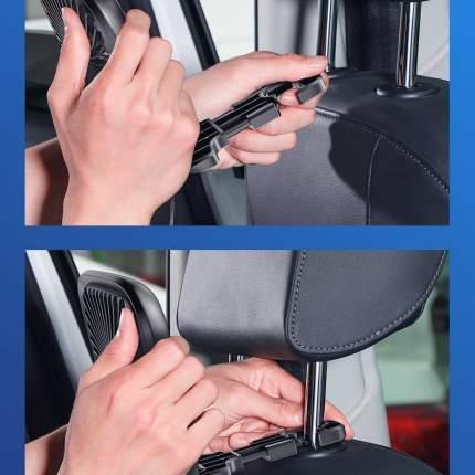 Автомобильный вентилятор Baseus Foldable Vehicle-mounted Backseat Fan Black