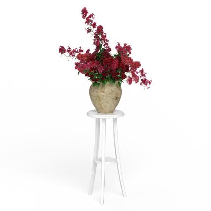 Подставка под цветы Мебель 24 № 1 белый