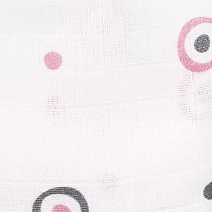 Пеленка детская муслин Adam Stork Pink Circles