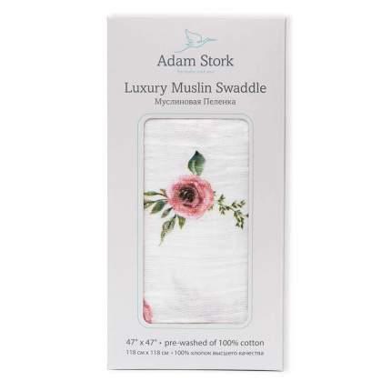 Пеленка для девочки муслиновая Adam Stork Watercolor Roses