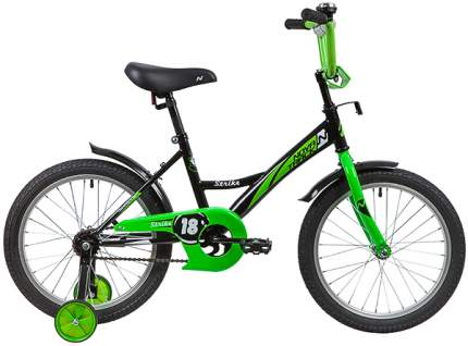 """Велосипед Novatrack Strike черный-зеленый 18"""""""