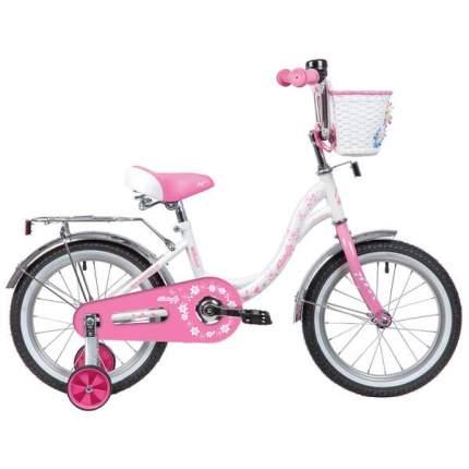 """Велосипед Novatrack Butterfly 14"""" бело-розовый"""