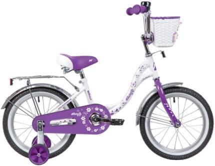 """Велосипед Novatrack Butterfly 14"""" бело-фиолетовый"""