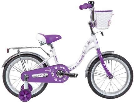 """Велосипед Novatrack Butterfly 16"""" бело-фиолетовый"""