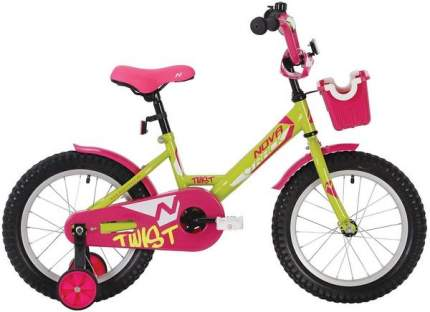 """Велосипед Novatrack Twist салатовый 12"""""""